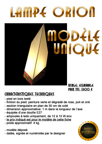 lampe orion 1